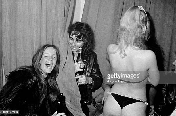 Alice Cooper watches a Sex Show in Copenhagen Denmark on November 22 1972