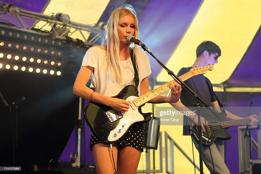 Alice Costelloe of Big Deal performs on stage on day 2 of Lovebox Festival 2013 at Victoria Park on July 20, 2013 in London, England.