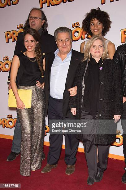 Alice David Christian Clavier and Isabelle Nanty attend the 'Les Profs' Premiere at Le Grand Rex on April 9 2013 in Paris France
