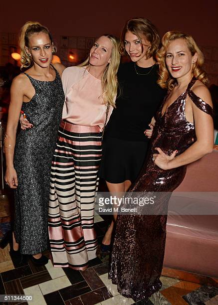 Alice Dellal Alice NaylorLeyland Arizona Muse and Charlotte Dellal attend as James Gager Senior Vice President Group Creative Director of MAC...