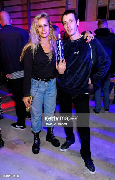 Alice Dellal and Brady attend the Palace Skate PALASONIC X Ciroc Vodka on October 19 2017 in London England