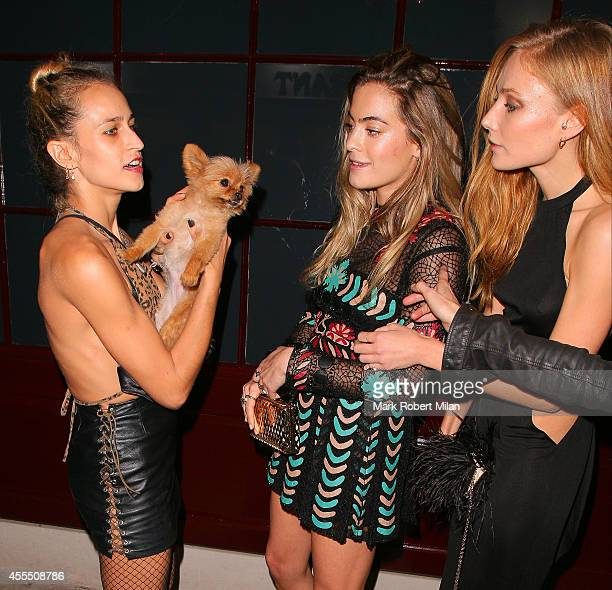 Alice Dellal and Clara Paget at 5 Hertford Street on September 15 2014 in London England