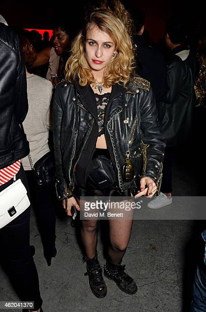 Alice Dellal attends as Mark Ronson hosts a party to celebrate the launch of his new album 'Uptown Special' at Television Centre White City on...