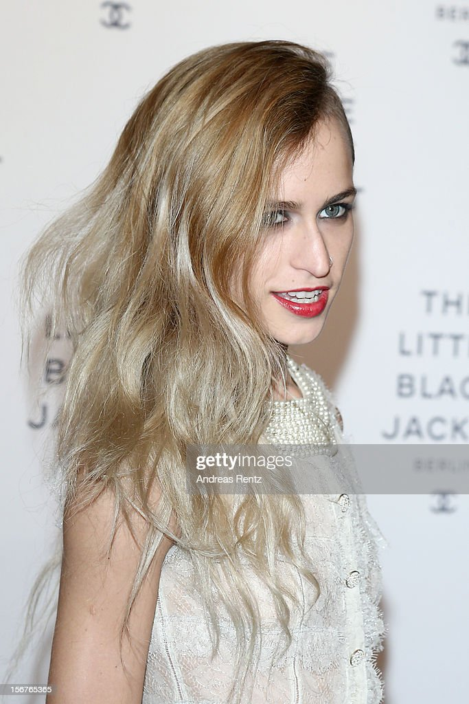 <a gi-track='captionPersonalityLinkClicked' href=/galleries/search?phrase=Alice+Dellal&family=editorial&specificpeople=4261908 ng-click='$event.stopPropagation()'>Alice Dellal</a> attends CHANEL 'The Little Black Jacket' - Exhibition Opening by Karl Lagerfeld and Carine Roitfeld on November 20, 2012 in Berlin, Germany.