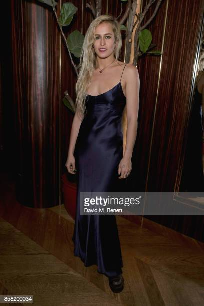 Alice Dellal attends Hugo Nathan Lauren Santo Domingo Wentworth Beaumont Dinner on October 5 2017 in London England