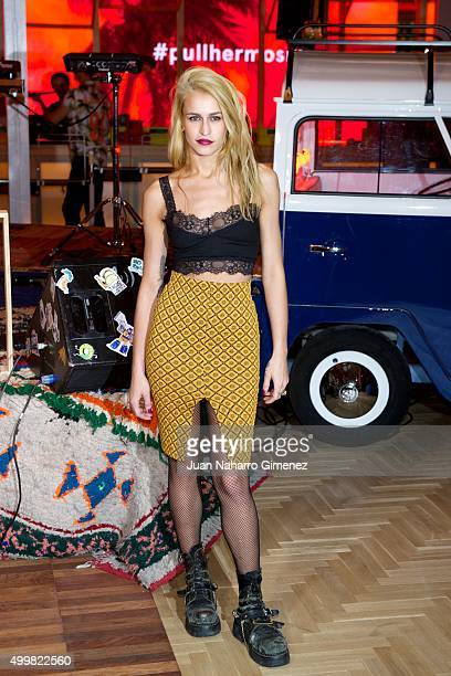 Alice Dellal attends Pull Bear biggest store opening presentation at Pull Bear store on December 3 2015 in Madrid Spain