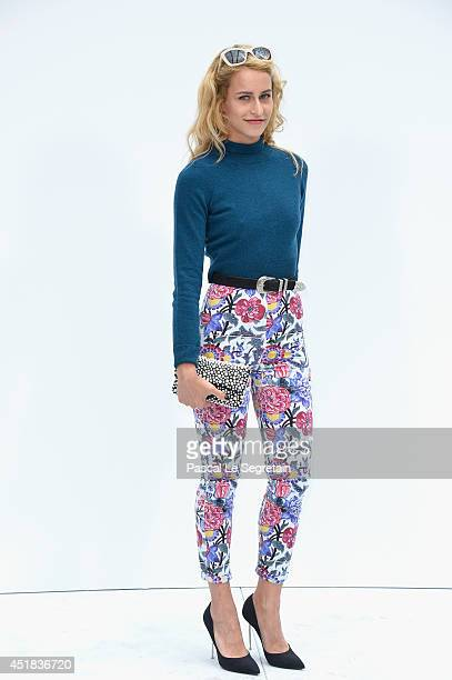 Alice Dellal attends the Chanel show as part of Paris Fashion Week Haute Couture Fall/Winter 20142015 at Grand Palais on July 8 2014 in Paris France
