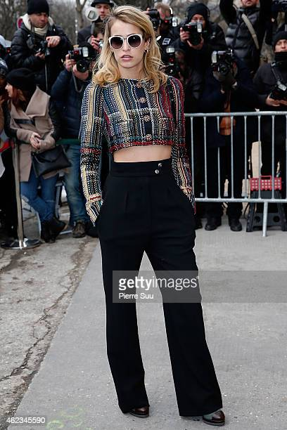 Alice Dellal attends the Chanel show as part of Paris fashion week Haute Couture Spring/Summer 2015 on January 27 2015 in Paris France