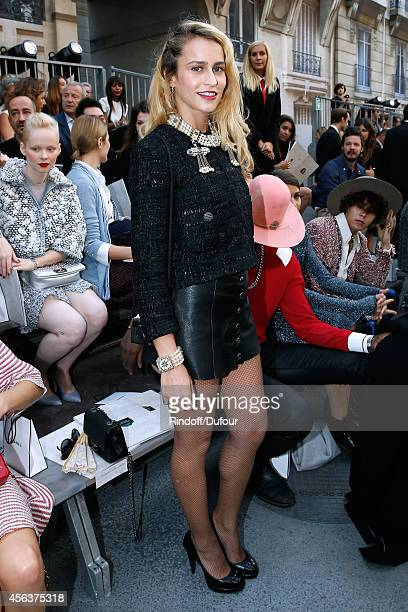Alice Dellal attends the Chanel show as part of the Paris Fashion Week Womenswear Spring/Summer 2015 on September 30 2014 in Paris France