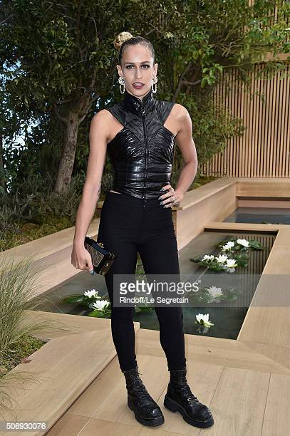 Alice Dellal attends the Chanel Spring Summer 2016 show as part of Paris Fashion Week on January 26 2016 in Paris France