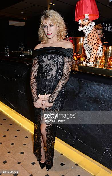 Alice Dellal attends the Charlotte Olympia 'Handbags for the Leading Lady' launch dinner at Toto's Restaurant on October 23 2014 in London England