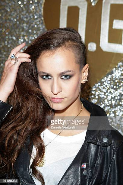 Alice Dellal attends the Dolce Gabbana show as part of Milan Womenswear Fashion Week Spring/Summer 2010 on September 27 2009 in Milan Italy