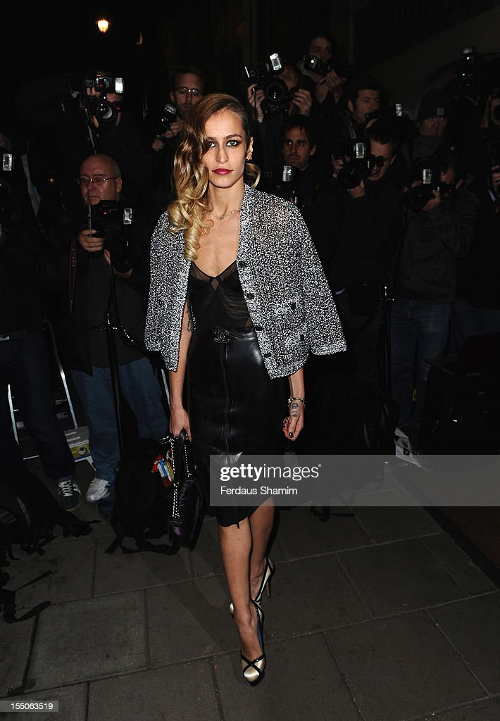 Alice Dellal attends the Harper's Bazaar Woman of the Year Awards at Claridge's Hotel on October 31, 2012 in London, England.