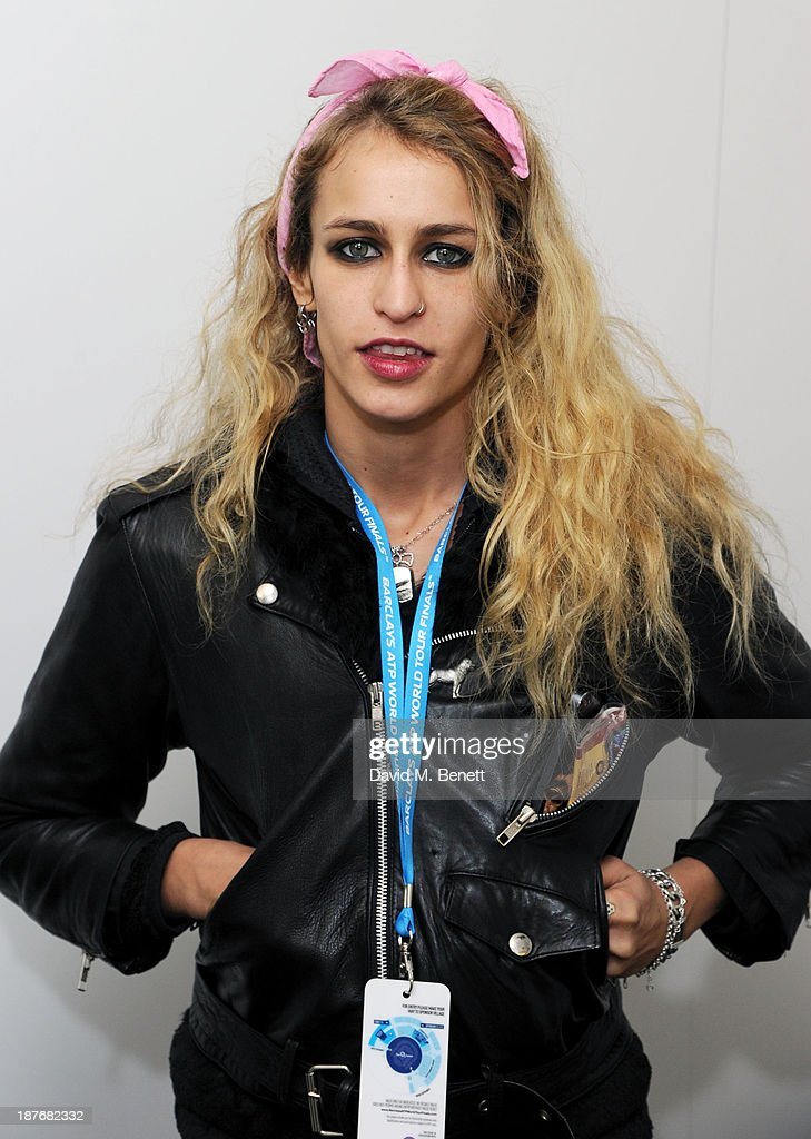 <a gi-track='captionPersonalityLinkClicked' href=/galleries/search?phrase=Alice+Dellal&family=editorial&specificpeople=4261908 ng-click='$event.stopPropagation()'>Alice Dellal</a> attends the Lacoste VIP lounge at ATP World Finals 2013 at 02 Arena on November 11, 2013 in London, England.