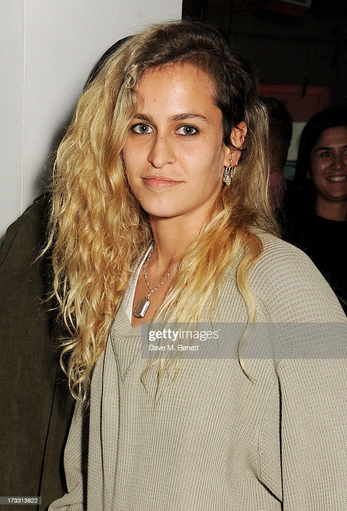 <a gi-track='captionPersonalityLinkClicked' href=/galleries/search?phrase=Alice+Dellal&family=editorial&specificpeople=4261908 ng-click='$event.stopPropagation()'>Alice Dellal</a> attends the Palace Skateboards x Reebok collaboration launch party at the Victorian Vaults on July 11, 2013 in London, England.