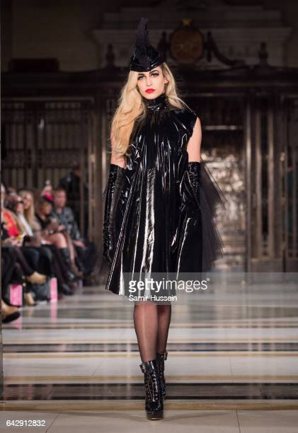 Alice Dellal walks the runway at the Pam Hogg show during the London Fashion Week February 2017 collections on February 19 2017 in London England
