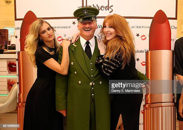 Alice Dellal with Charlotte Tilbury as she launches new make up range at Harrods on July 23 2015 in London England