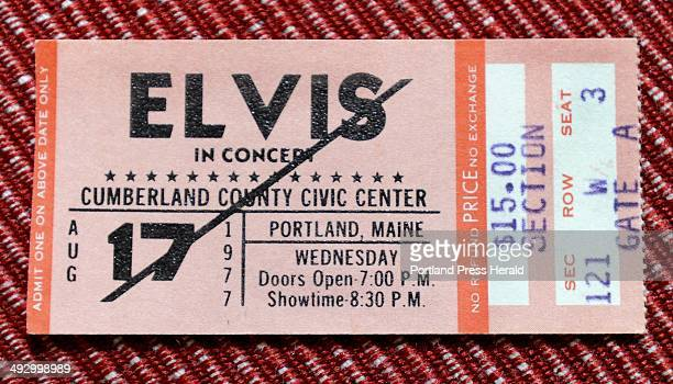 Alice Dickey of South Portland has a Elvis concert ticket for the Cumberland County Civic Center from 1977 the day after he died seen here at her...