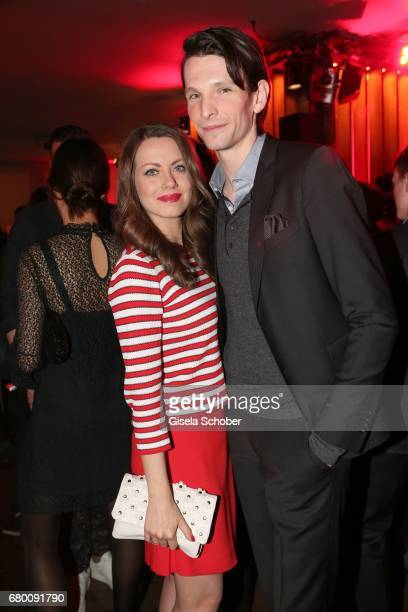 Alice Dwyer and her boyfriend Sabin Tambrea during the New Faces Award Film at Haus Ungarn on April 27 2017 in Berlin Germany