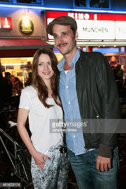 Alice Dwyer and Max von Thun attend the 'Let's Go' premiere as part of Filmfest Muenchen 2014 at Rio Filmpalast on July 2 2014 in Munich Germany