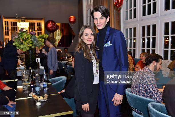 Alice Dwyer and Sabin Tambrea attend farewell party of Hannelore Hoger as BELLA BLOCK at restaurant Tarantella on October 13 2017 in Hamburg Germany