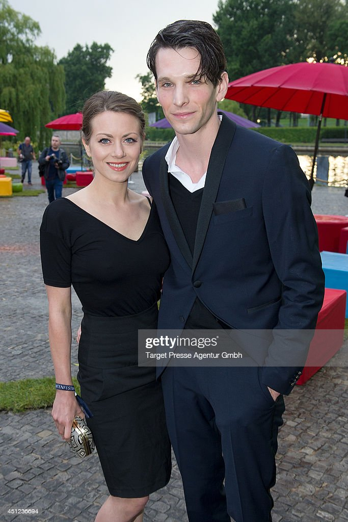 Alice Dwyer and Sabin Tambrea attend the producer party 2014 (Produzentenfest) of the Alliance German Producer - Cinema And Television on June 25, 2014 in Berlin, Germany.