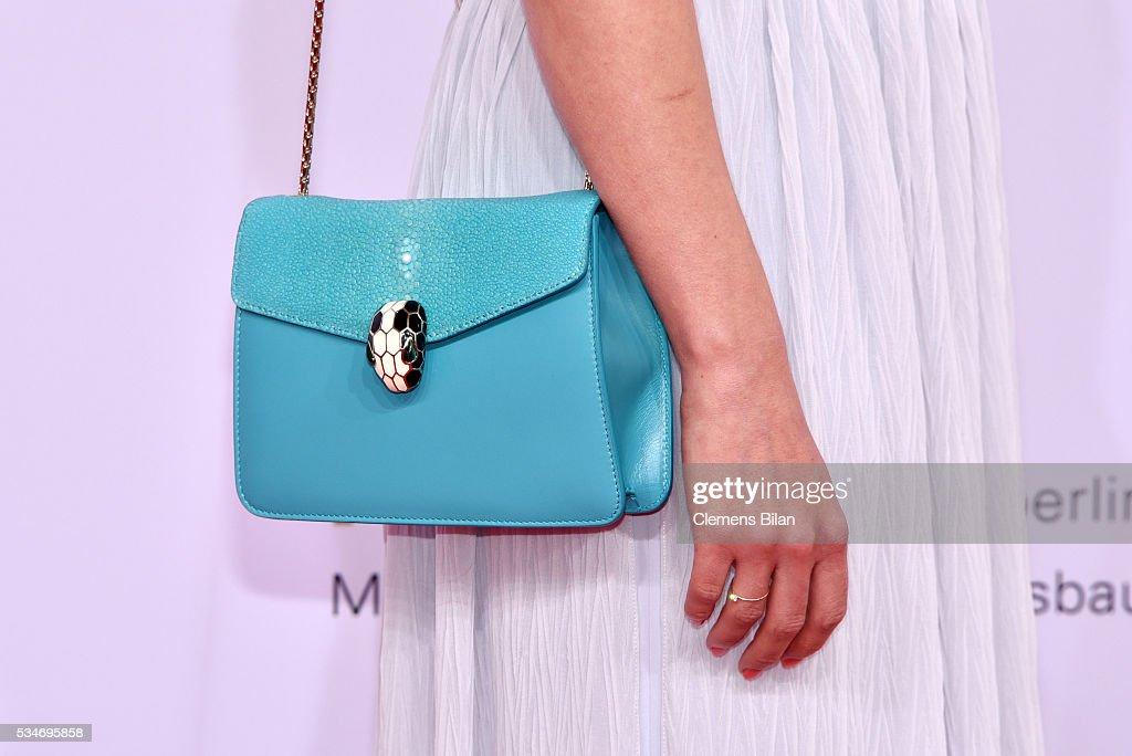 Alice Dwyer, bag detail, attends the Lola - German Film Award (Deutscher Filmpreis) on May 27, 2016 in Berlin, Germany.