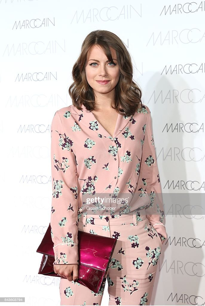 Alice Dwyer during the Marc Cain fashion show spring/summer 2017 at CITY CUBE Panorama Bar on June 28, 2016 in Berlin, Germany.
