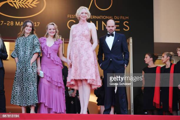 Alice Engler Elisabeth Moss Gwendoline Christie and David Dencik of 'Top of the Lake China Girl' attend the 'The Beguiled' screening during the 70th...