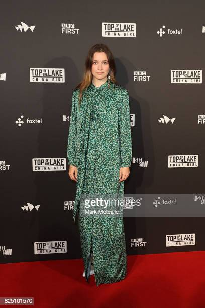 Alice Englert arrives ahead of the Top of the Lake China Girl Australian Premiere at Sydney Opera House on August 1 2017 in Sydney Australia