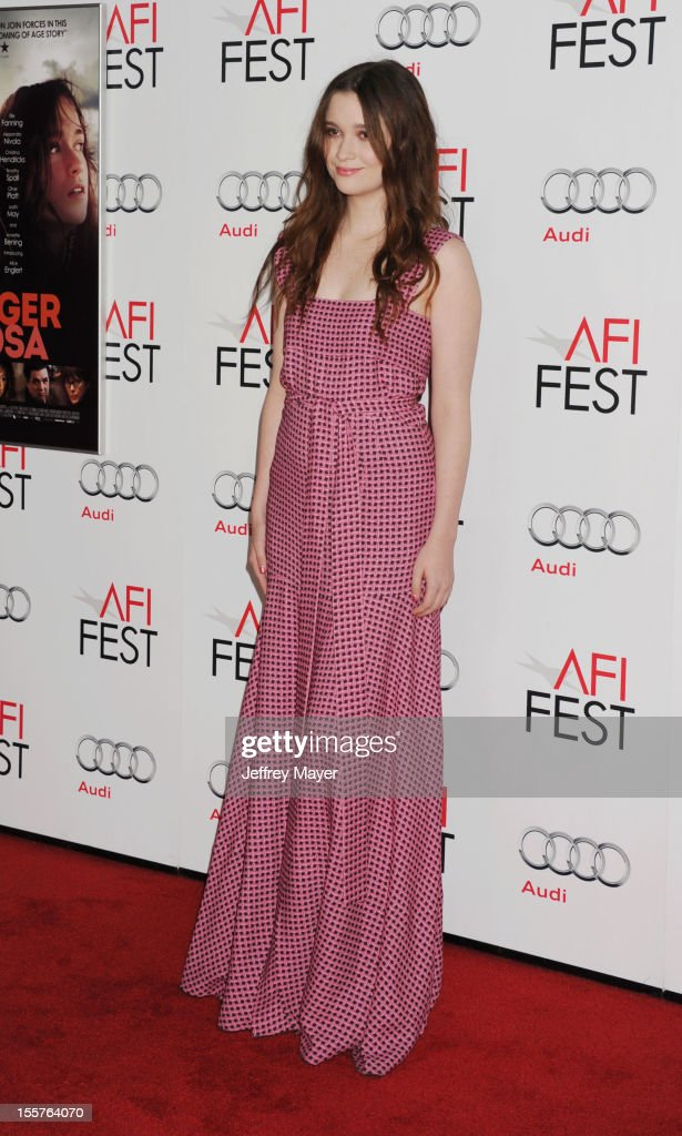 Alice Englert arrives at the 'Ginger And Rosa' special screening during AFI Fest 2012 at Grauman's Chinese Theatre on November 7, 2012 in Hollywood, California.