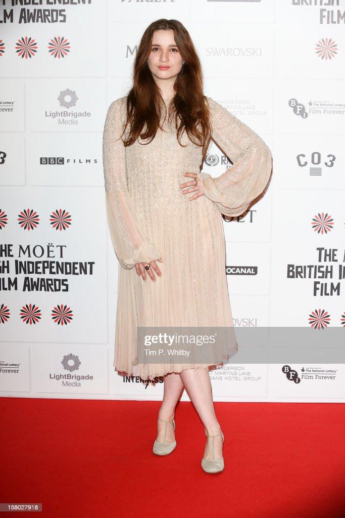 Alice Englert attends the British Independent Film Awards at Old Billingsgate Market on December 9, 2012 in London, England.