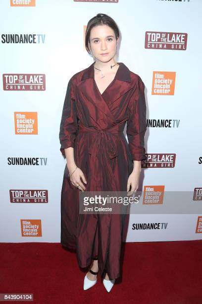 Alice Englert attends the New York premiere of 'Top of the Lake China Girl' at The Film Society of Lincoln Center Walter Reade Theatre on September 7...