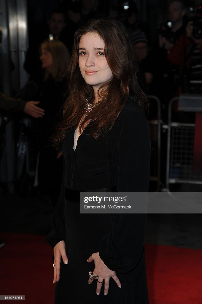 Alice Englert attends the premiere of 'Ginger And Rosa' during the 56th BFI London Film Festival at Odeon West End on October 13, 2012 in London, England.