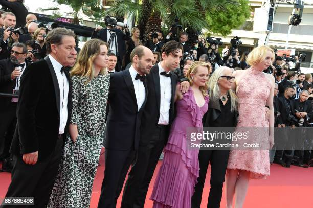 Alice Englert David Dencik Ariel Kleiman Elisabeth Moss director Jane Campion and Gwendoline Christie attend 'The Beguiled' premiere during the 70th...