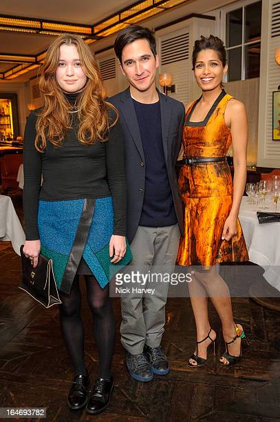 Alice Englert Lazaro Hernandez and Freida Pinto attend as NetAPorter host private dinner to celebrate the launch of the Proenza Schouler excluisve...