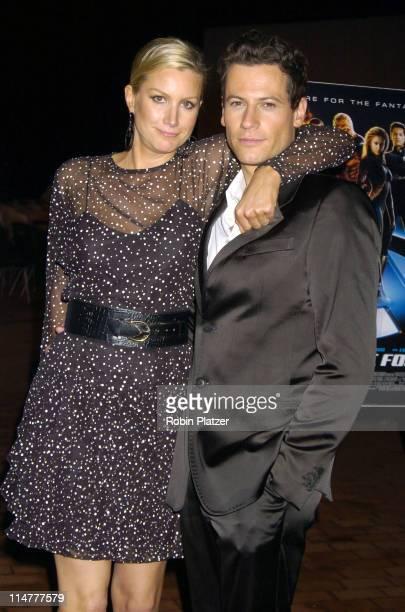 Alice Evans and boyfriend Ioan Gruffudd during 'Fantastic Four' New York City Premiere Arrivals at Liberty Island in New York City New York United...