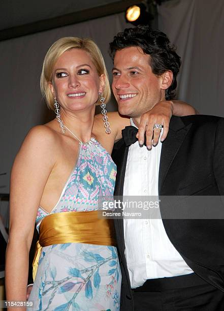 Alice Evans and Ioan Gruffudd during 'AngloMania' Costume Institute Gala at The Metropolitan Museum of Art Departures Celebrating 'AngloMania...