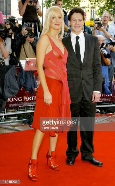 Alice Evans and Ioan Gruffudd during 'King Arthur' London Premiere Arrivals at Empire Leicester Square in London Great Britain