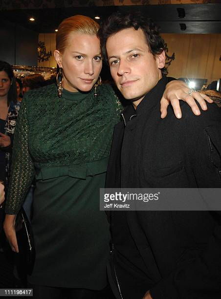 Alice Evans and Ioan Gruffudd during Rickard Shah's Limited Edition Icon Collection Launch Party to Benefit 'Keep A Child Alive' at Iconology at...
