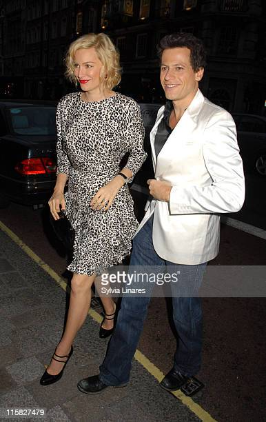 Alice Evans and Ioan Gruffudd during Royal Academy Summer Exhibition 2007 VIP Private View Departures at Royal Academy in London Great Britain
