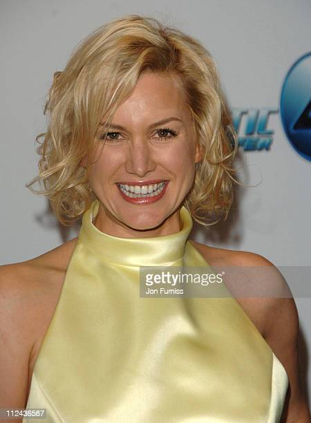 Alice Evans during 'Fantastic Four Rise Of The Silver Surfer' World Premiere Inside Arrivals at Leicester Square in London Great Britain