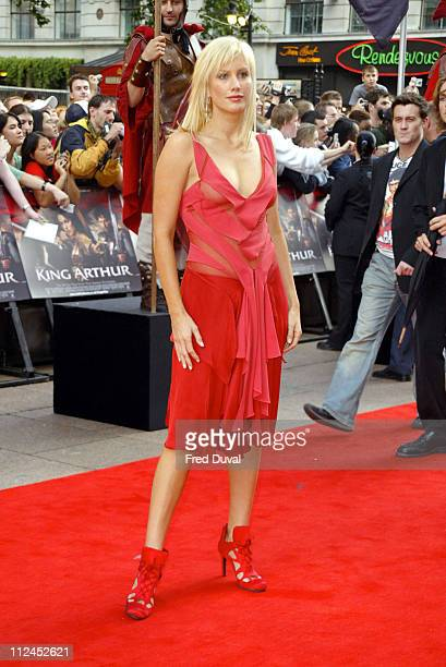 Alice Evans during 'King Arthur' London Premiere Arrivals at Empire Leicester Square in London Great Britain