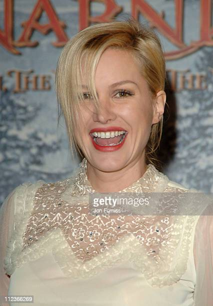 Alice Evans during 'The Chronicles of Narnia The Lion The Witch and the Wardrobe' London Premiere Inside Arrivals at Royal Albert Hall in London...