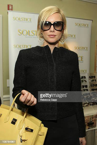 Alice Evans in Stella McCartney 34S sunglasses during Solstice at the 2006 PreOscar Luxury Lounge at Peninsula Hotel in Beverly Hills CA United States