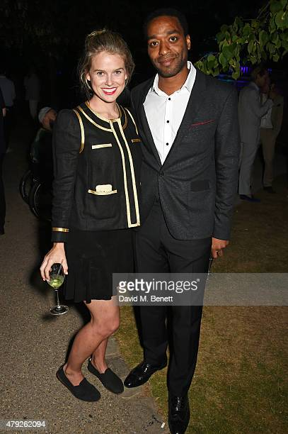 Alice Eve and Chiwetel Ejiofor attend The Serpentine Gallery summer party at The Serpentine Gallery on July 2 2015 in London England