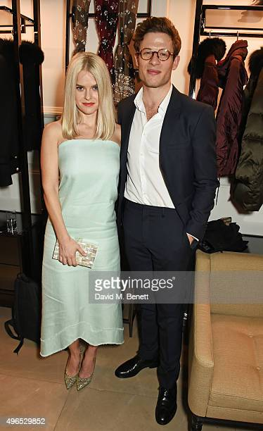 Alice Eve and James Norton attend the BAFTA Breakthrough Brits reception in partnership with Burberry at 121 Regent Street on November 10 2015 in...