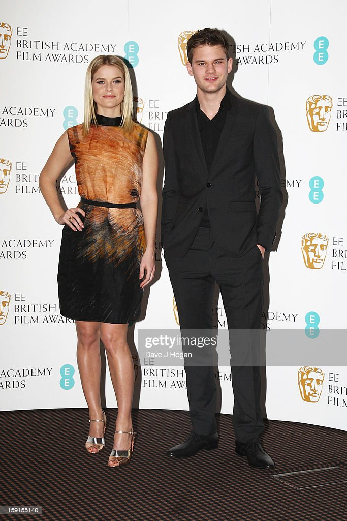 Alice Eve and Jeremy Irvine attend The EE British Academy Film Awards nominations announcement at at BAFTA on January 9, 2013 in London, England.