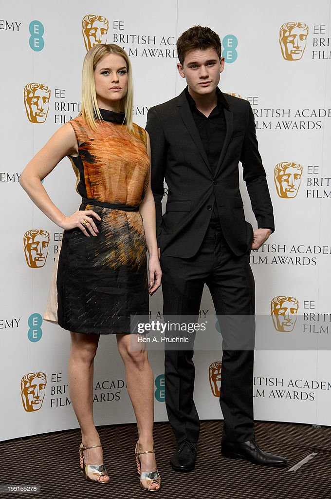 Alice Eve and Jeremy Irvine attends The EE British Academy Film Awards nominations announcement at BAFTA on January 9, 2013 in London, England