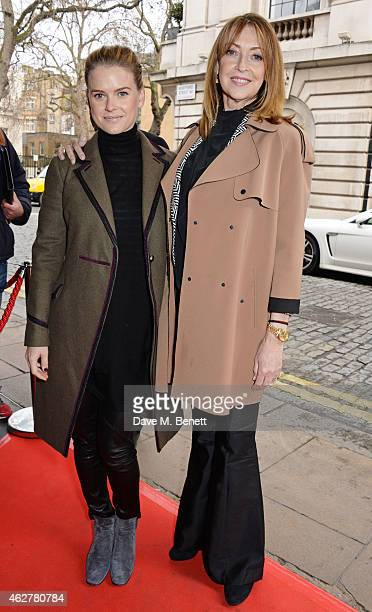 Alice Eve and mother Sharon Maughan attend a VIP Screening of 'Still Alice' at The Curzon Mayfair on February 5 2015 in London England